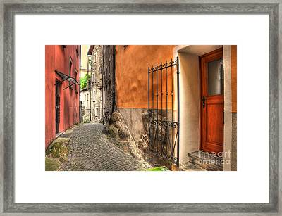 Old Colorful Rustic Alley Framed Print