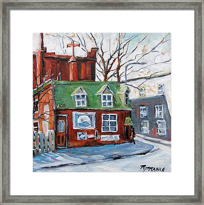 Old Corner Store Montreal By Prankearts Framed Print by Richard T Pranke