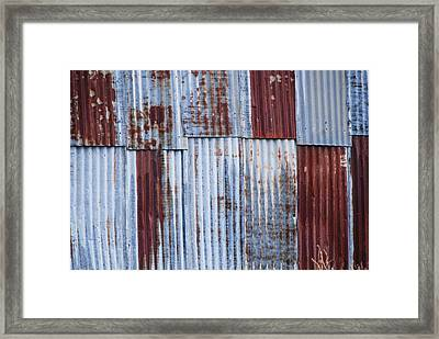 Old Corrugated Iron Framed Print