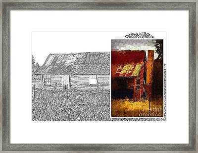 Old Cottage Diptych 1 Framed Print