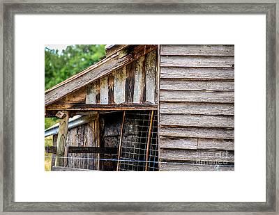 Old Cottage Wall 1 Framed Print