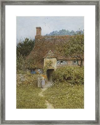 Old Cottage Witley Framed Print by Helen Allingham