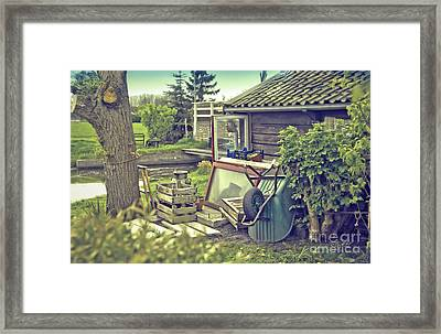Framed Print featuring the photograph Old Country House by Ariadna De Raadt