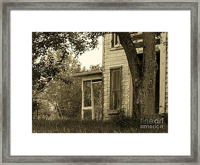 Old Country Porch Framed Print by Joyce Kimble Smith