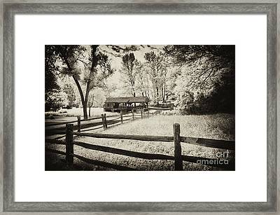 Old Country Saw-mill - Toned Framed Print