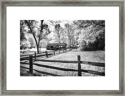 Old Country Saw-mill Framed Print