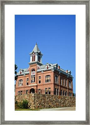 Old Courthouse Powhatan Arkansas 1 Framed Print by Douglas Barnett