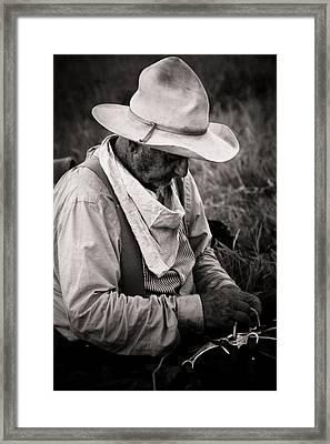 Oklahoma Cowboy Framed Print by Toni Hopper