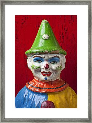 Old Cown Face Framed Print by Garry Gay