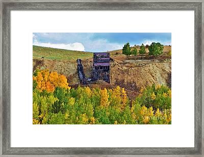 Old Cripple Creek Mine Framed Print by Ellen Heaverlo