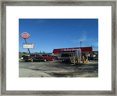 Old Dairy Queen In Azle Texas Framed Print by Shawn Hughes