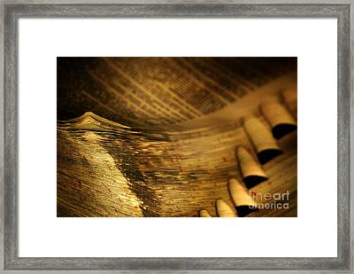 Old Dictionary Framed Print