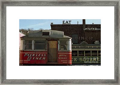Old Diners Framed Print