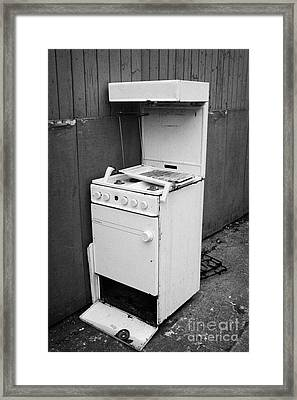 Old Discarded Gas Cooker Waste Framed Print by Joe Fox