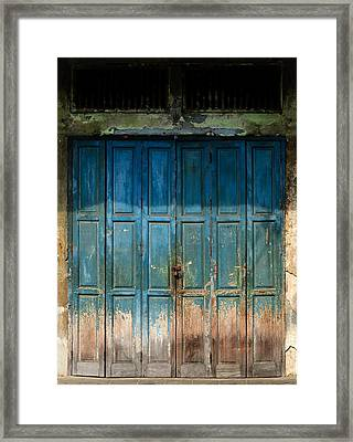 old door in China town Framed Print