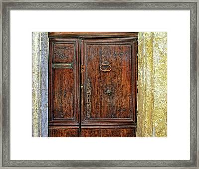 Framed Print featuring the photograph Old Door Study Provence France by Dave Mills
