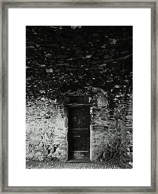 Old Door Under The Porch Framed Print by Ettore Zani