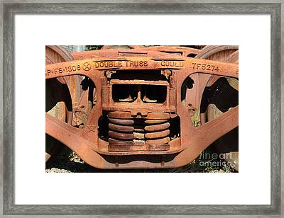 Old Double Truss Train Wheel . 7d12855 Framed Print by Wingsdomain Art and Photography