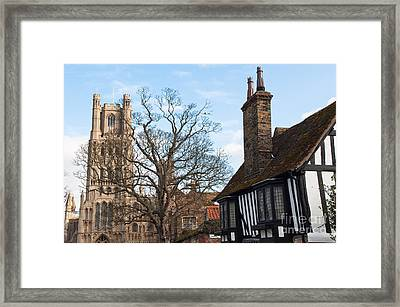 Framed Print featuring the photograph Old English House by Andrew  Michael