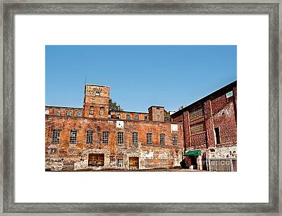 Old Factory Framed Print by HD Connelly