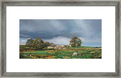 Old Farm - Monyash - Derbyshire Framed Print