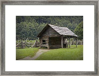 Old Farm Building In The Smokey Mountains Framed Print