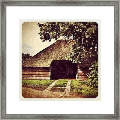Old #farm #building Framed Print