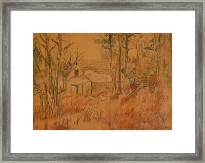 Old Farm Framed Print by Carman Turner