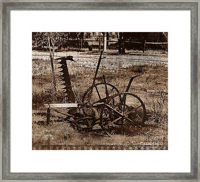 Framed Print featuring the photograph Old Farm Equipment by Blair Stuart