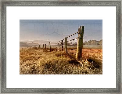 Old Farm Gate  Framed Print by Debra and Dave Vanderlaan