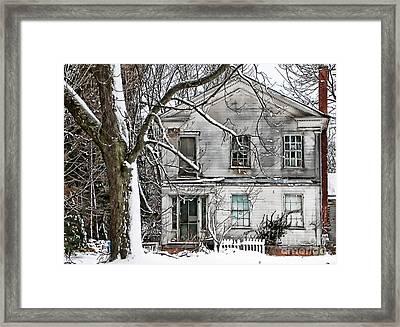 Old Farm House Framed Print by Cheryl Cencich