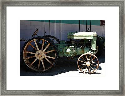 Old Farm Tractor . 5d16619 Framed Print by Wingsdomain Art and Photography