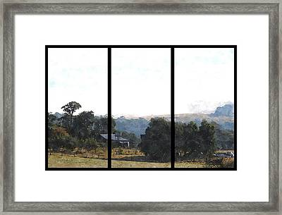 Old Farmhouse Among The Trees Framed Print