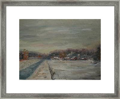 Old Farms Winter Avon Framed Print