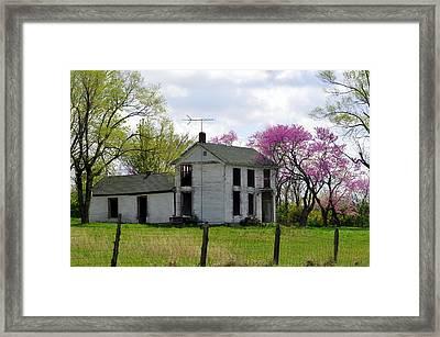 Old Farmstead Framed Print by Marty Koch