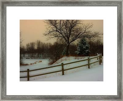Old Fashiion Winter Framed Print by Edward Peterson