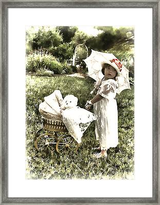 Old Fashion Girl Framed Print by Trudy Wilkerson
