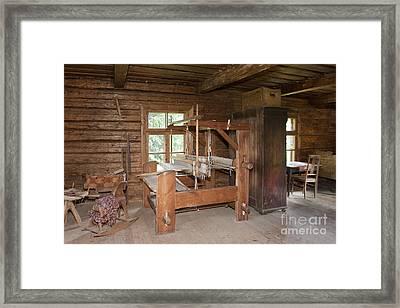 Old Fashion Loom On Display Framed Print