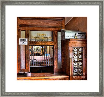 Old Fashion Post Office Framed Print by Paul Ward