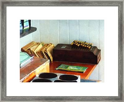 Old Fashioned Adding Machine Framed Print by Susan Savad