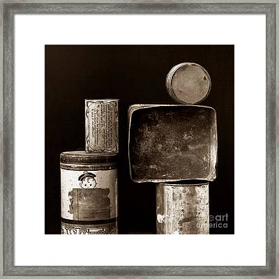 Old Fashioned Iron Boxes. Framed Print by Bernard Jaubert