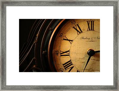 Old Fashioned Mantle Clock Framed Print