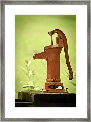 Old Fashioned Water Pump Framed Print