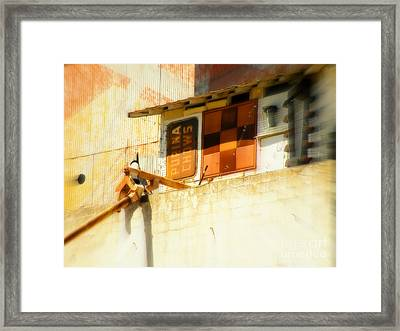 Old Feed Mill Tower Framed Print