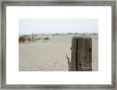 Old Fence Pole Framed Print