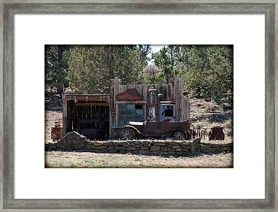 Old Filling Station Framed Print by Athena Mckinzie
