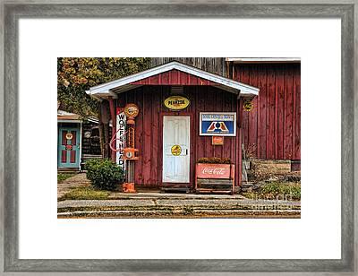 Old Filling Station Framed Print