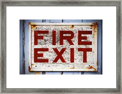 Old Fire Exit Sign Framed Print