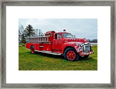Old Firetruck Framed Print by Brenda Becker