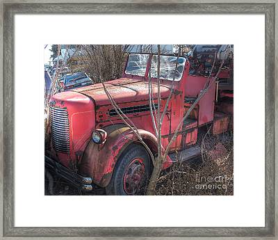 Old Firetruck Framed Print